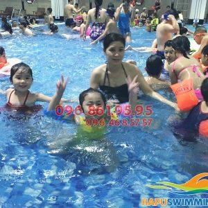 """Hapulico - đơn vị dạy bơi bể Hapulico """"chuẩn"""" nhất Hà Nội 01"""
