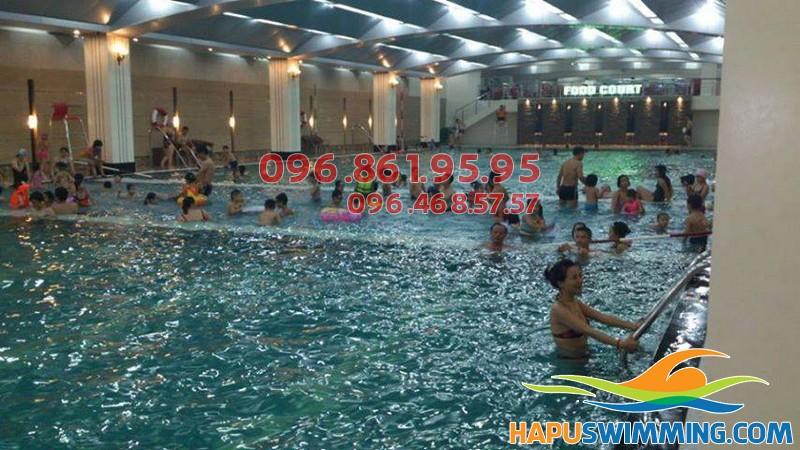 Lớp dạy bơi bể Hapulico - khóa học bơi kèm riêng cấp tốc của Hapu Swimming tại Hà Nội 01