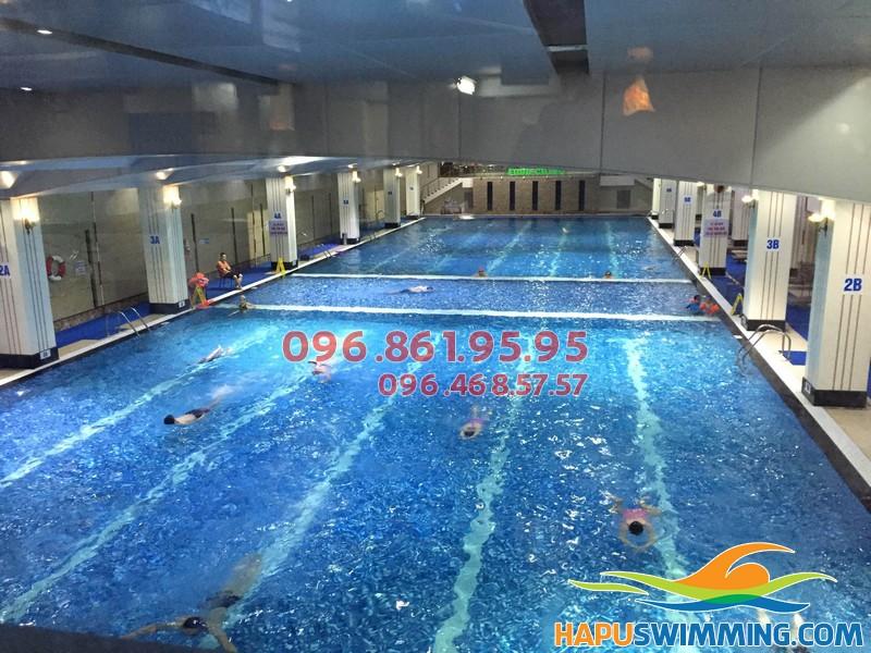 Bể bơi Hapulico xanh, sạch, đẹp - Địa điểm học bơi lý tưởng