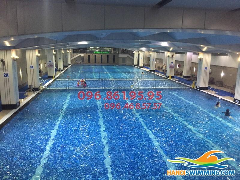 Thiết kế đường bơi chuẩn Olympic