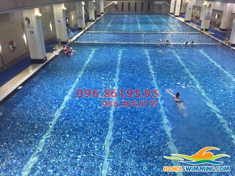 Chi phí lớp học bơi sải bể Hapulico 2017