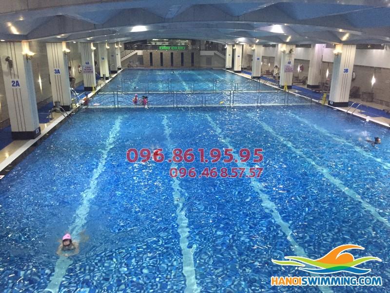 Dạy học bơi ếch kèm riêng kèm riêng bể Hapulico 2017