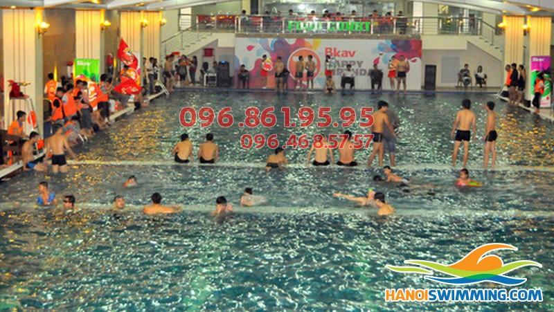 Hướng dẫn cách đăng ký học bơi bể Hapulico