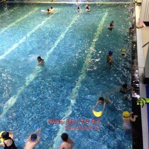 Khóa học bơi giá rẻ bể Hapulico 2017