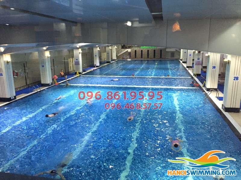 Lợi ích khi cho trẻ học bơi tại bể bơi nước mặn Hapulico