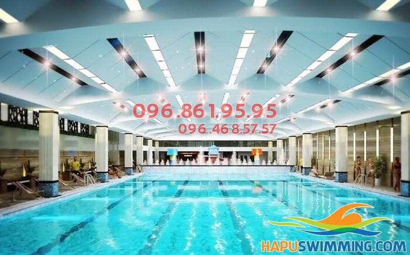 Học bơi bể bơi nước nóng Hapulico với không gian cực thoáng