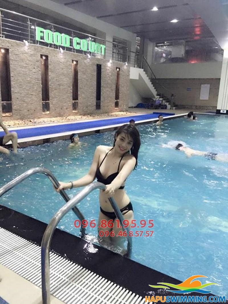 Thân hình đẹp, sức khỏe dẻo dai khi tham gia học bơi tại Hapulico