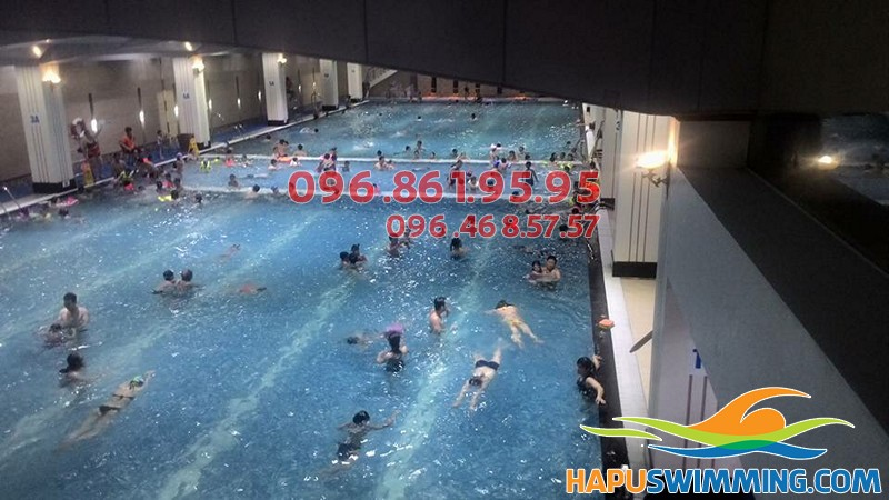 Trung tâm dạy bơi mùa đông bể nước nóng Hapulico 2017 giá rẻ