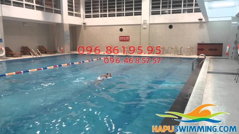Bể bơi Nghĩa Tân nằm ở địa chỉ số 14, Tô Hiệu, Cầu Giấy, Hà Nội.