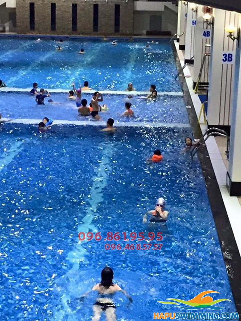 Địa chi học bơi mùa đông bể Hapulico giá rẻ, xếp lịch học ngay