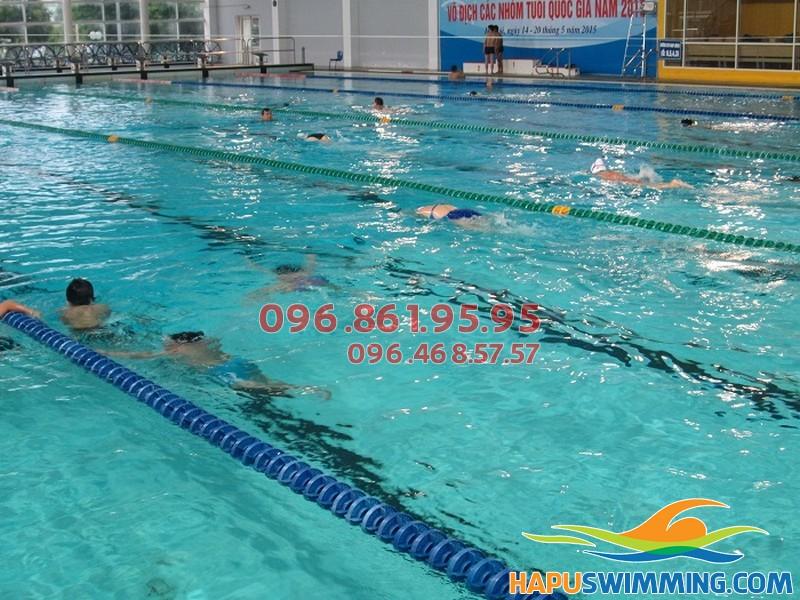 Bể bơi nước nóng Mỹ Đình – Cung thể thao dưới nước ở đường Lê Đức Thọ, Mỹ Đình 1, Hà Nội.
