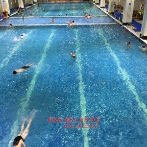 Các lớp học bơi ở bể bơi Hapulico có HLV nữ kèm riêng và hỗ trợ giá vé