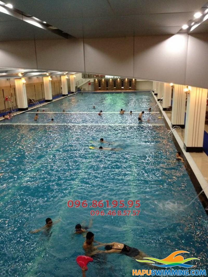 Học bơi kèm riêng bể Hapulico 2018 với học phí rẻ, được hỗ trợ giá vé vào bể