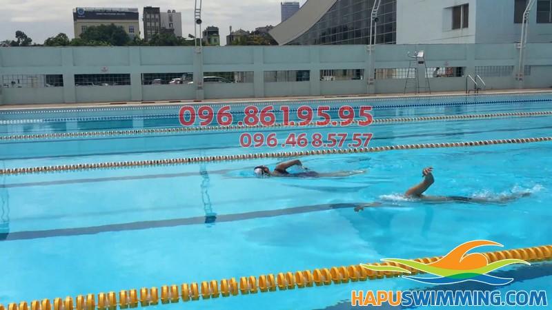 HLV Hà Nội Swimming dạy bơi kèm riêng tại bể bơi Mỹ Đình