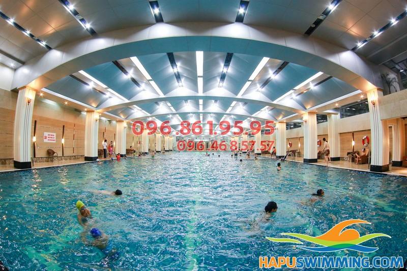 Bể bơi Hapulico sang trọng trở thành địa điểm bơi lội yêu thích tại Hà Nội
