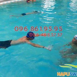 Các lớp học bơi ở Bảo Sơn được tổ chức với hình thức dạy kèm riêng