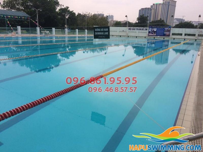 Review bể bơi Hà Nội - Cung thể thao dưới nước Mỹ Đình bể ngoài trời