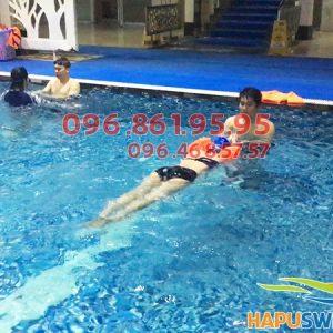 Học phí học bơi sải dành cho người lớn ở bể bơi Hapulico hè 2018