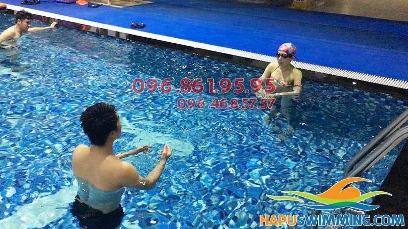 Trung tâm dạy bơi kèm riêng hè 2018 tốt nhất ở bể Hapulico
