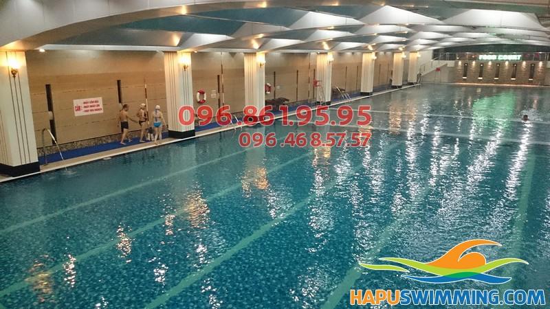 Bể bơi nước nóng Hapulico - Địa điểm học bơi mùa đông tuyệt vời nhất tại Hà Nội