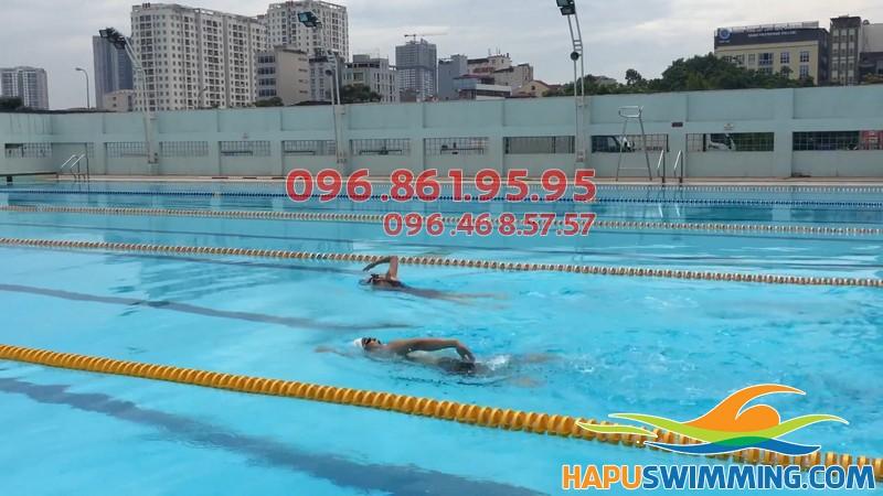 Bể bơi Mỹ Đình được thiết kế vô cùng chuyên nghiệp