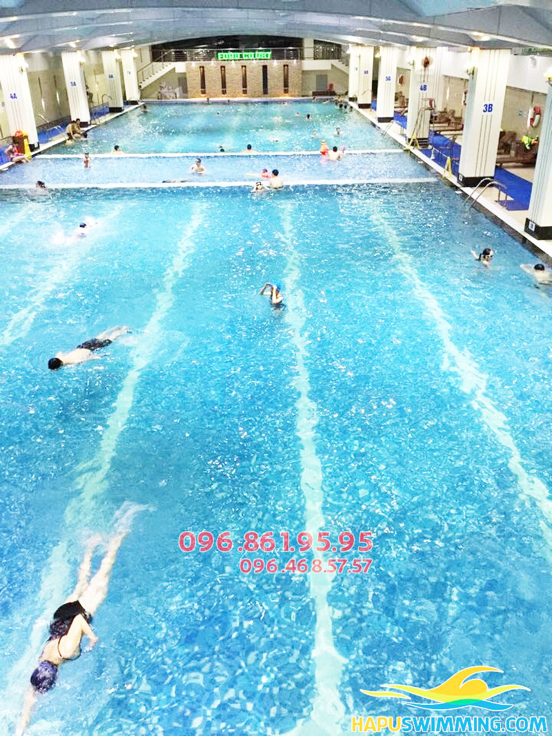Học bơi sải tại bể bơi Vip Hapulico cực thích thú