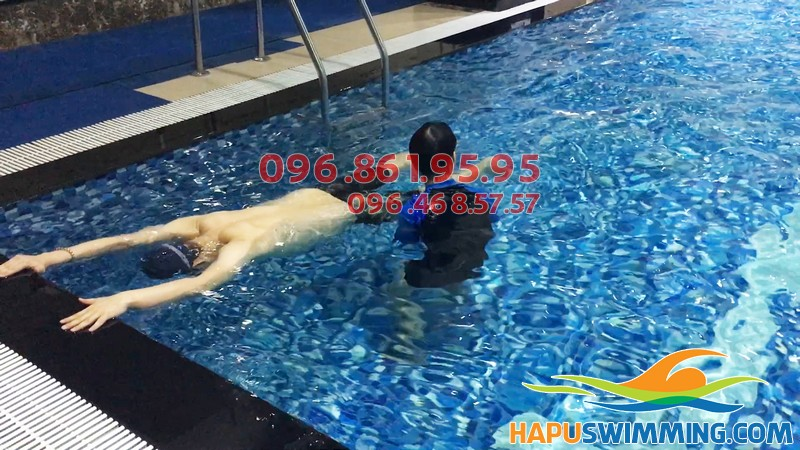Học bơi sải tại Hapulico cực tốt, bơi đúng kỹ thuật sau 7 ngày